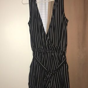 0c945bdc77d5 Black and white jumpsuit